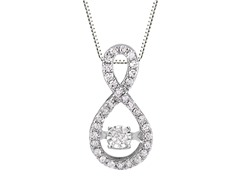 "ZKS Designs ""Dancing"" Diamond Tear Drop Pendant"