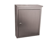 Locking Metropolis Mailbox, Brushed Stainless
