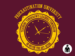 Procrastination University Hoodie Remix