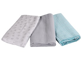 SwaddleMe Muslin Swaddle 3-Pack, Your Choice