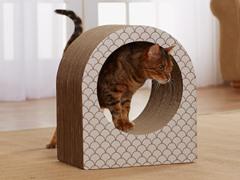 Cat's Cradle Cardboard Cat Scratcher - Taupe