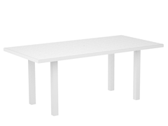 Euro Dining Table, White/White