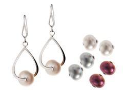 Interchangeable Multi-Color Pearl & Earring Set