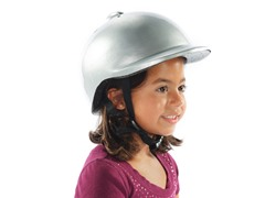 Silver Bicycle Helmet