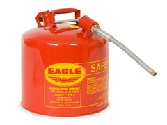 5 Gallon Galvanized Steel Type 2 Gas Can, Red