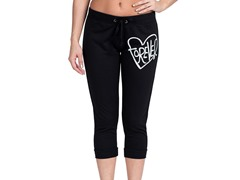 Bottoms Up Forever French Terry Capri, Black