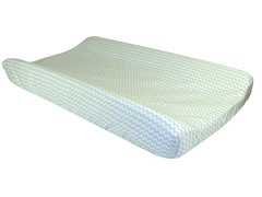 Mint Green Chevron Changing Pad Cover