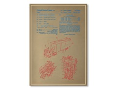 "Blueprints Optimus Prime Poster 18"" x 24"""