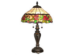 "Rose Floral Table Lamp 16""x25.5"""