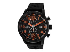Invicta Men's Chronograph, Black/Orange