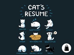 Cat's Resume Tote