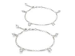 Crystal Bracelet & Anklet Set