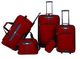5pc Red Luggage Set