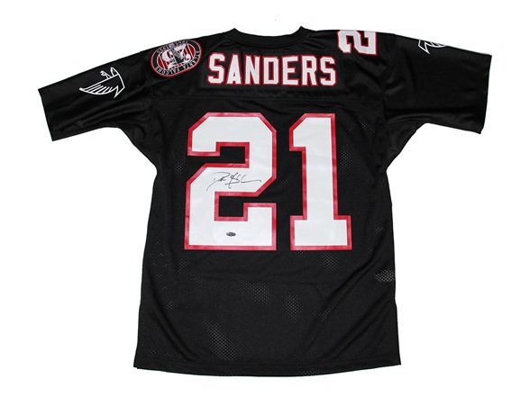 low priced 0a8b0 cad5e Deion Sanders Signed Falcons Jersey