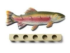 Fishing Rod Rack - Trout