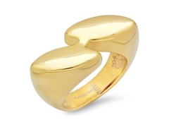 18kt Gold Plated Bypass Ring