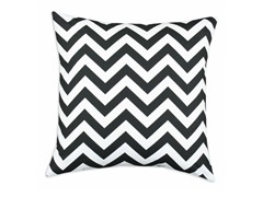 Zig Zag Black 17X17 Pillow