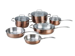 Kevin Dundon 10 Piece Cookware Set Copper