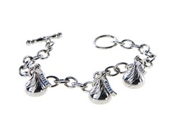 SS Small Triple Kiss Bracelet