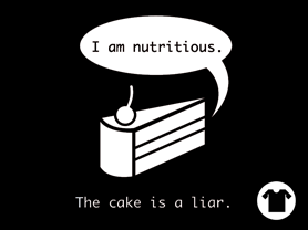 The Cake is a Liar Remix - Black