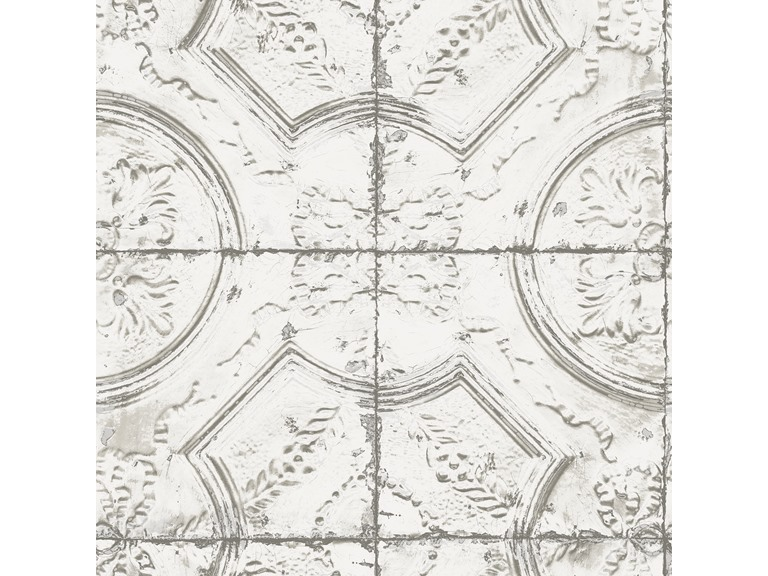 Newport Tin Tile Peel Stick Wallpaper