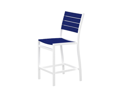 Euro Counter Chair, White/Pacific Blue