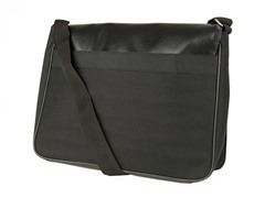 J. Abboud Leather Messenger Bag, Black