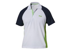 Fila Coach Polo Shirt - White/Navy (S-L)