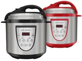 Stainless 6QT Pressure Cooker - 2 Colors