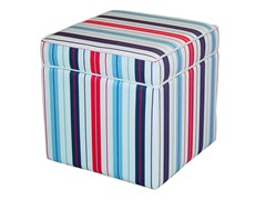 Storage Cube Penny Stripe Red/Blue