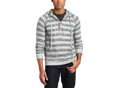 Alex Stevens Men's All Over Stripe Hoodie, Grey