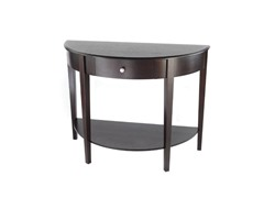 Large Half Moon/Round Hall Table with Drawer- Espresso