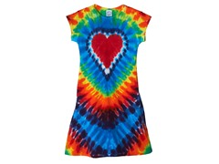 Womens - Rainbow Heart Dress (S-L)