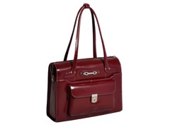 Wenonah Leather Ladies Briefcase - Red