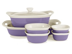 CorningWare 7-Pc Set - Eggplant
