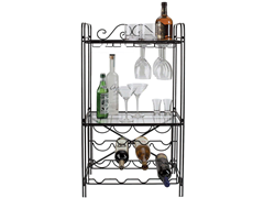 "20""x11""x36"" Wine Rack - Black"