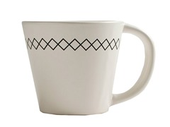 K by Keaton 12oz K-Stitch Mug White Set of 6