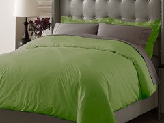 Hotel Duvet Cover Set - Sage - 3 Sizes