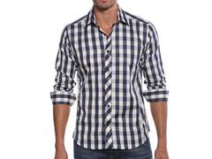 Jared Lang Dress Shirt, Blue Check
