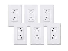 15-Amp Receptacle 6-Pack, White