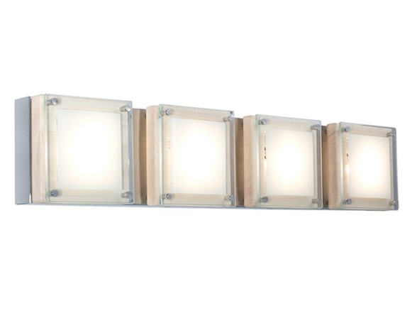 Square Bar 4 Light Low Voltage Wall Sconce