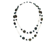 SS Peacock Freshwater Pearl Necklace