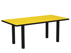 Euro Dining Table, Black/Lemon