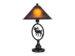 Dale Tiffany 14.75X24.5 Mica Moose Table Lamp