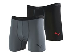 Puma Boys Briefs 2pk - Gray/Black (6/7)