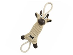 Pet Life Jute Rope Dog Toy - Brown