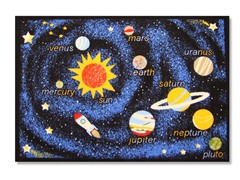 "Outer Space Navy 3'3""X4'7"" Rug"