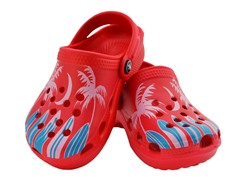 Red Surfboard Clog