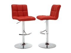 Homelegance Bonded Leather Stool Red 2pk