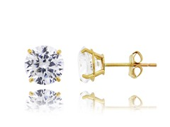 10kt Yellow Gold CZ Earrings